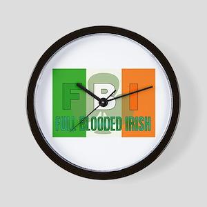 FULL BLOODED IRISH Wall Clock