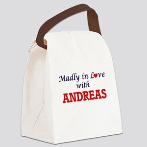 Madly in love with Andreas Canvas Lunch Bag