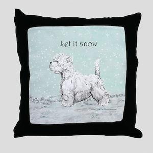 Westhighland Westie Winter Throw Pillow