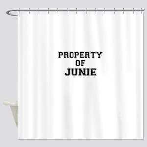 Property of JUNIE Shower Curtain