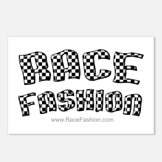 Race Fashion Postcards (Package of 8)