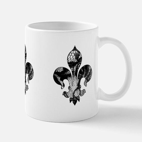 Fleur de lis Faux Lace 3 Mug