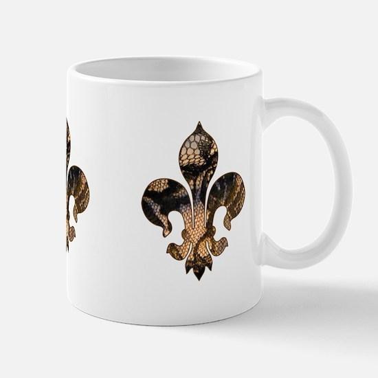 Fleur de lis Faux Lace 2 Mug