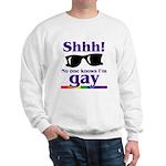 SHHH! NO ONE KNOWS I'M GAY Sweatshirt