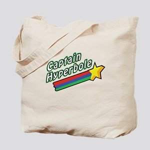 Captain Hyperbole Design Tote Bag