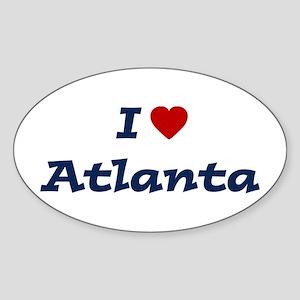 I HEART ATLANTA Oval Sticker