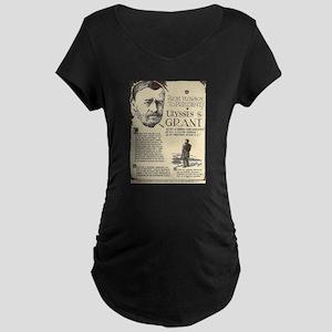 Ulysses S Grant Mini Biography Maternity T-Shirt