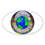Autism Worldwide Oval Sticker