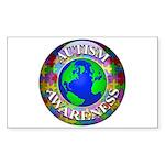 Autism Worldwide Rectangle Sticker