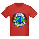 Autism Worldwide Kids Dark T-Shirt