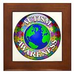 Autism Worldwide Framed Tile