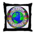 Autism Worldwide Throw Pillow