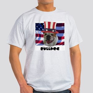 Bulldog RED WOOF & BLUE Light T-Shirt