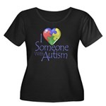 Someone with Autism Women's Plus Size Scoop Neck D