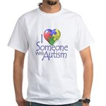 Someone with Autism White T-Shirt