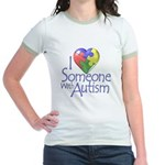 Someone with Autism Jr. Ringer T-Shirt