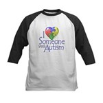 Someone with Autism Kids Baseball Jersey