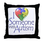 Someone with Autism Throw Pillow