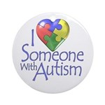 Someone with Autism Ornament (Round)