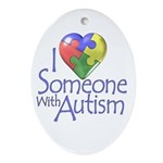 Someone with Autism Oval Ornament