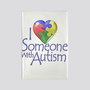 Someone with Autism Rectangle Magnet