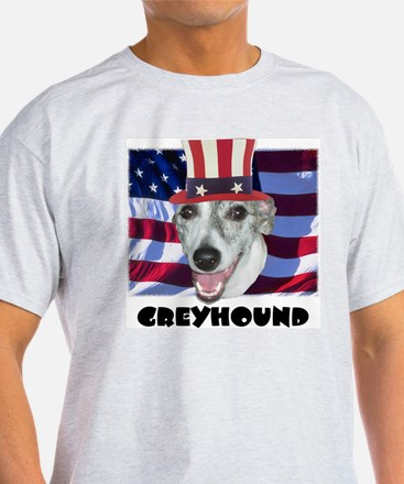 Greyhound RED WOOF & BLUE T-Shirt