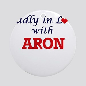 Madly in love with Aron Round Ornament
