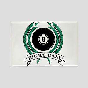 Eight Ball Green Emblem Rectangle Magnet