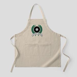 Eight Ball Green Emblem BBQ Apron