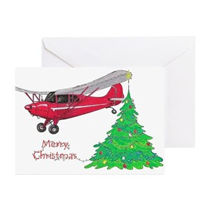 airplane greeting cards cafepress - Airplane Christmas Cards
