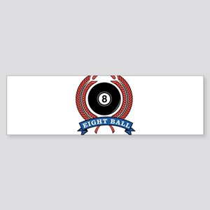 Eight Ball Red Emblem Bumper Sticker