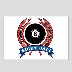 Eight Ball Red Emblem Postcards (Package of 8)