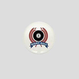 Eight Ball Red Emblem Mini Button