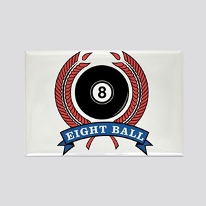 Eight Ball Red Emblem Rectangle Magnet