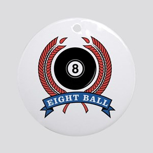 Eight Ball Red Emblem Ornament (Round)