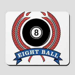 Eight Ball Red Emblem Mousepad