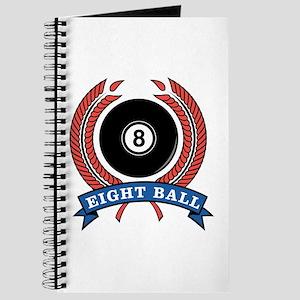 Eight Ball Red Emblem Journal
