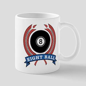 Eight Ball Red Emblem Mug