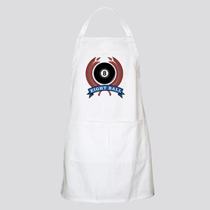 Eight Ball Red Emblem BBQ Apron