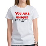 You are unique, just like eve Women's T-Shirt
