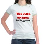 You are unique, just like eve Jr. Ringer T-Shirt