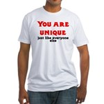 You are unique, just like eve Fitted T-Shirt