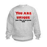 You are unique, just like eve Kids Sweatshirt