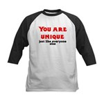 You are unique, just like eve Kids Baseball Jersey