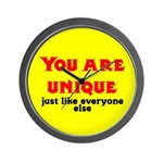 You are unique, just like eve Wall Clock