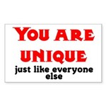 You are unique, just like eve Sticker (Rectangular