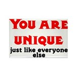 You are unique, just like eve Rectangle Magnet (10