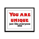 You are unique, just like eve Framed Panel Print