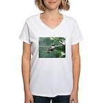 Hummer Kisses Women's V-Neck T-Shirt