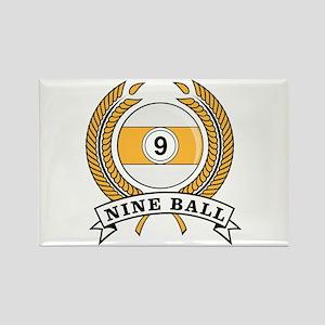 Nine Ball Yellow Emblem Rectangle Magnet